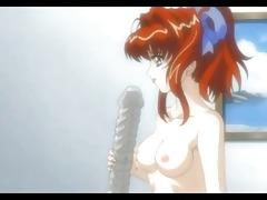 bondage anime girl gets fingered by her little