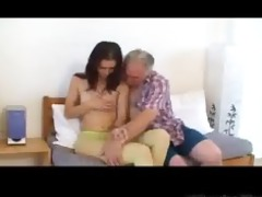 miniature tittted babe gets screwed by grandpapa