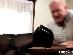 granddad has a footfetish
