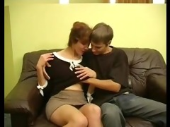 sexy redhead russian mommy and boy