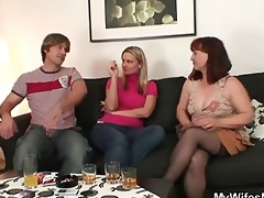 wife watches as he is fucks her old mom