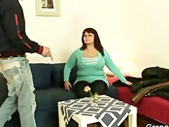 giant titted fattie jumps on hard cock